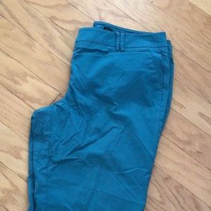New York and Company teal dress capris size 14